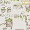 Beschichtete Baumwolle strukturiert Green Garden natur III