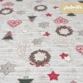 Beschichtete Baumwolle strukturiert Merry Christmas III