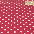 Beschichtete Baumwolle abwaschbar kleine Punkte rot III