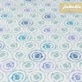 Beschichtete Baumwolle strukturiert Aquarell blau III