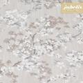 Beschichtete Baumwolle strukturiert Akira grau-weiß III