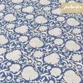 Beschichtete Baumwolle strukturiert Alma blau III