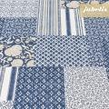 Beschichtete Baumwolle strukturiert Angela blau III
