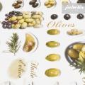 Wachstuch Oliven P