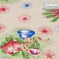 Wachstuch Weihnachten Kugeln rot-blau M