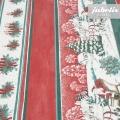 Wachstuch Weihnachten rot gestreift M