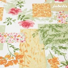 Beschichtete Baumwolle strukturiert Blumenpatch III