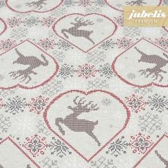 Beschichtete Baumwolle strukturiert Deer natur III 160 cm x 140 cm Bauerntisch