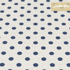 Beschichtete Baumwolle strukturiert kleine Punkte dunkelblau III
