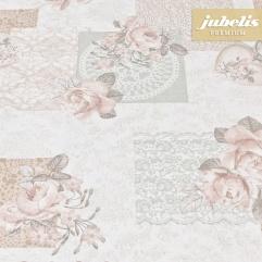 Beschichtete Baumwolle strukturiert Gallica rosa III 110 cm x 140 cm Küchentisch