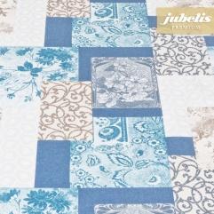 Beschichtete Baumwolle abwaschbar Sina blau III