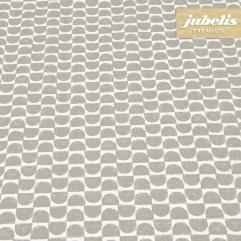 Beschichtete Baumwolle abwaschbar Jonas braun-grau III 2000 cm x 140 cm komplette Rolle-Sonderpreis