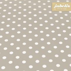 Beschichtete Baumwolle abwaschbar kleine Punkte beige III