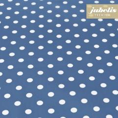 Beschichtete Baumwolle abwaschbar kleine Punkte blau III