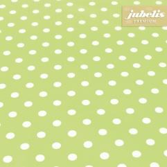 Beschichtete Baumwolle abwaschbar kleine Punkte hellgrün III 190 cm x 140 cm