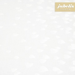 Beschichtete Baumwolle abwaschbar Many Hearts weiß III 260 cm x 140 cm