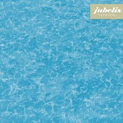 Beschichtete Baumwolle abwaschbar Mara blau III 350 cm x 140 cm