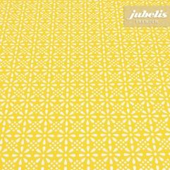 Premium Wachstuch extradick Fleuropa gelb H 240 cm x 140 cm für Biertische (auf Wunsch geteilt = 2 Decken)