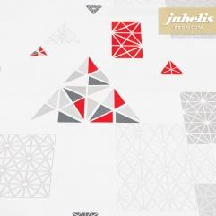 Premium Wachstuch extradick Pyramid rot H 160 cm x 140 cm Bauerntisch