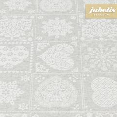 Beschichtete Baumwolle strukturiert Abina grau III 240 cm x 140 cm für Biertische (auf Wunsch geteilt = 2 Decken)