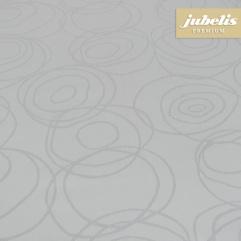Textiler Luxus-Tischbelag Lana silbergrau III