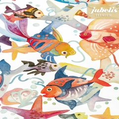 Textiler Luxus-Tischbelag Pesci colorati III