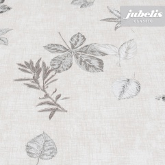 Wachstuch Herbstblätter grau II 110 cm x 140 cm Küchentisch