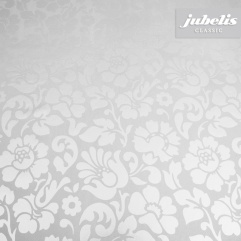 Wachstuch Barock floral silber H