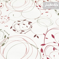 Wachstuch Blätterranken pink P 2000 cm x 140 cm komplette Rolle-Sonderpreis