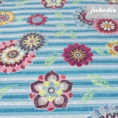 Wachstuch Blossom blau II