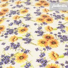 Wachstuch Blumen gelb lila I