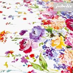 Wachstuch Blumenbordüre I 230 cm x 140 cm