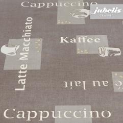 Wachstuch Cappuccino braun H 140 cm Durchmesser rund