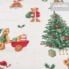 Wachstuch Christmas Teddy II
