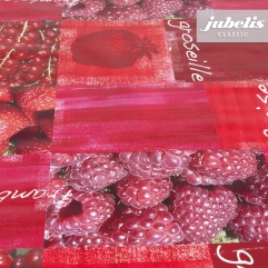Wachstuch Himbeeren und Erdbeeren P