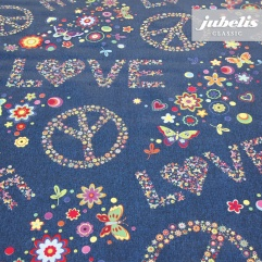 Wachstuch Lovely jeansblau H