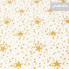 Wachstuch Sterne gold P