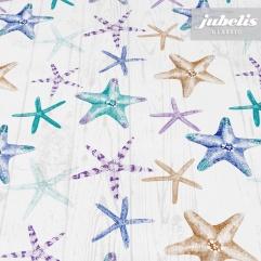 Wachstuch Starfish creme I 230 cm x 140 cm
