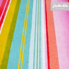 Wachstuch Streifen multicolor I