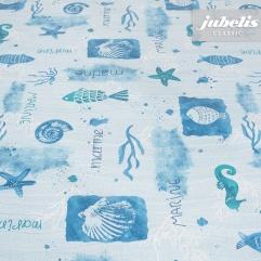 Wachstuch Sea Creatures blau P