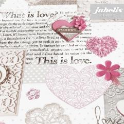 Wachstuch Vintage Love rosé II 120 cm x 140 cm