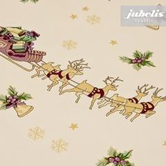 Wachstuch Weihnachten Rentier-Schlitten M