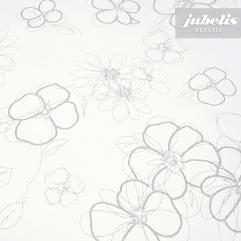 Wachstuch weiß mit Blumen M