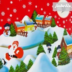 Wachstuch Weihnachten Schneemann rot P-H 150 cm x 140 cm