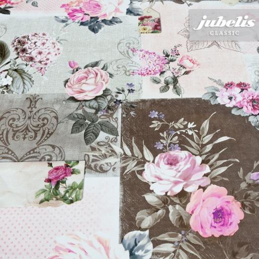 Wachstuch Roselyn rosa H 110 cm x 140 cm Küchentisch