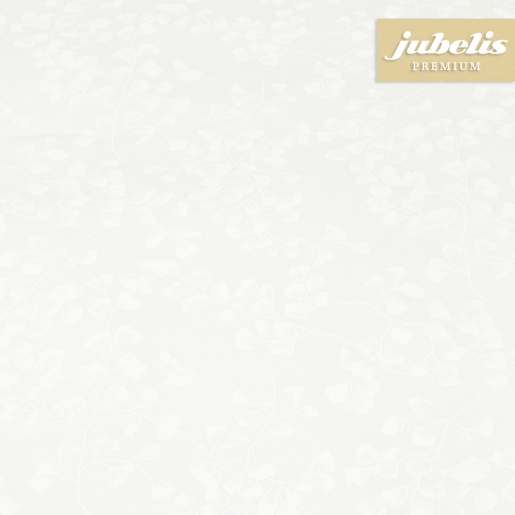 Beschichtete Baumwolle abwaschbar Ginkgo weiß III 290 cm x 140 cm