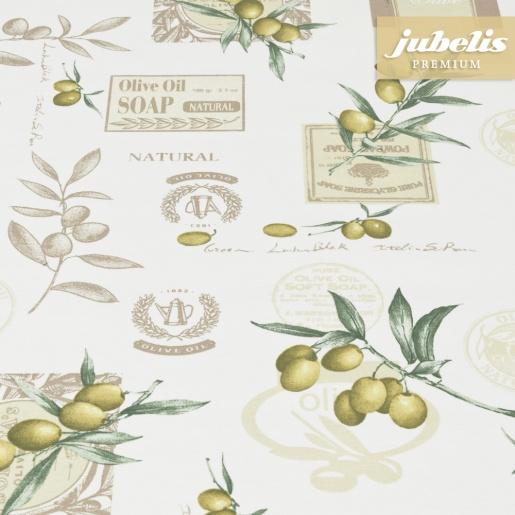 Beschichtete Baumwolle strukturiert Olive Oil III 300 cm x 140 cm