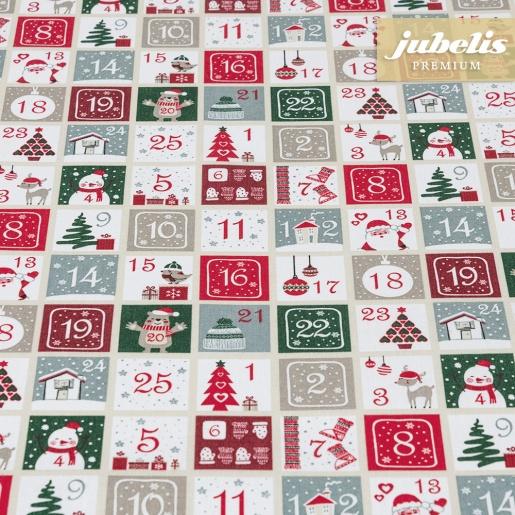 Beschichtete Baumwolle strukturiert Christmas Calendar III