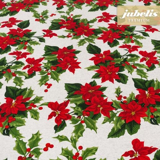 Beschichtete Baumwolle strukturiert Christmas Star natur III