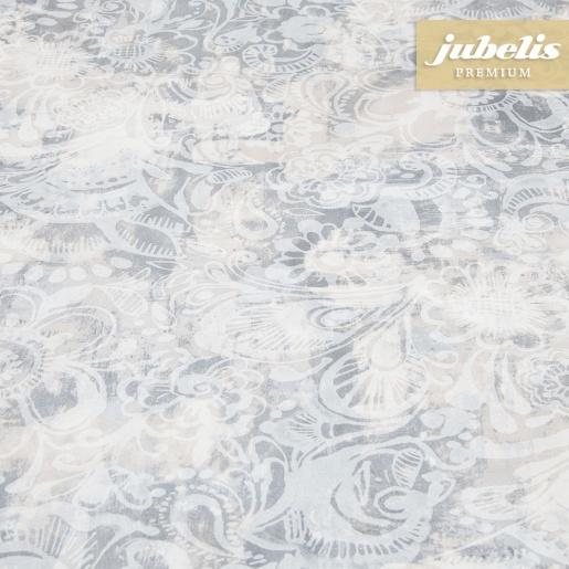 Beschichtete Baumwolle abwaschbar Augusta grau III 110 cm x 140 cm Küchentisch